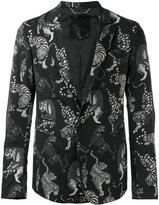 Philipp Plein tiger print blazer - men - Cotton/Polyamide/Spandex/Elastane - L