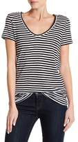 Susina Stripe Scoop Neck Tee