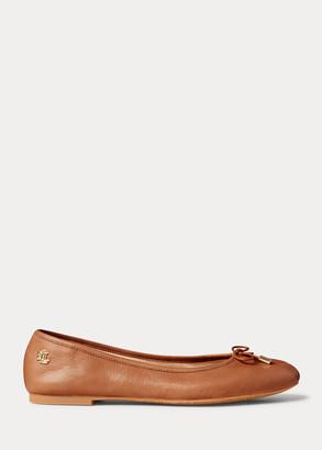 Ralph Lauren Jayna Leather Flat