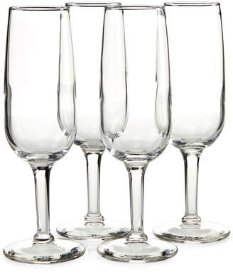 Libbey Set of 4 Madison Champagne Flutes