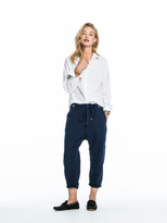 Scotch & Soda Linen Mix Chinos - Oltre Blue