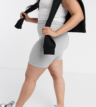 Street Collective Curve mix and match leggings shorts in grey