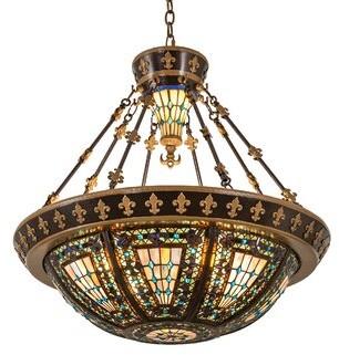 Meyda Tiffany 6 Light Unique Statement Bowl Pendant Shopstyle