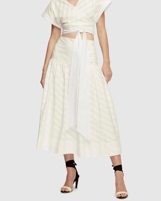 Lover Lotus Midi Skirt