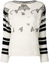 Ermanno Scervino stripe and embroidered sweater