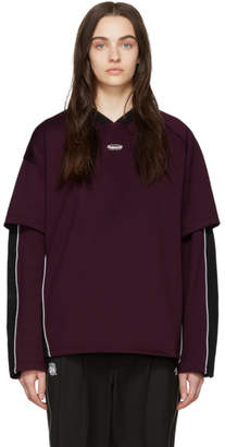 Ader Error ADER error SSENSE Exclusive Purple and Black ASCC Football Long Sleeve T-Shirt