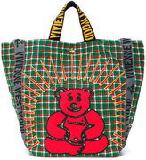 Vivienne Westwood woven check bear tote