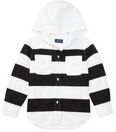 Ralph Lauren 2-7 Striped Cotton Twill Hoodie