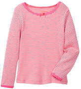 Joe Fresh Stripe Rib Top (Toddler & Little Girls)