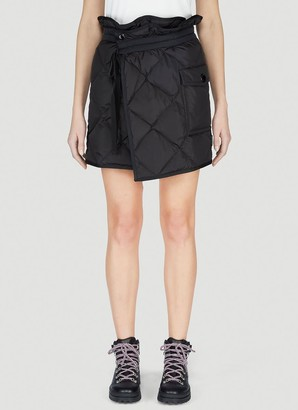 Moncler Quilted Wrap Skirt