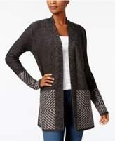 Karen Scott Long-Sleeve Border Cardigan, Created for Macy's