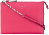 DKNY Flat top zip crossbody bag - women - Leather - One Size