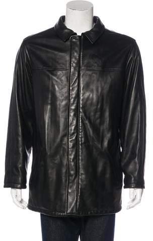 Loro Piana Leather Cashmere-Lined Coat