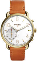 Fossil Q Women's Tailor Light Brown Leather Strap Hybrid Smart Watch, 40MM FTW1127