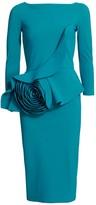 Chiara Boni Morny Flower Ruffle Dress