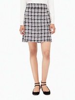 Kate Spade Textured tweed a-line skirt