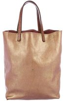 Henry Cuir Metallic Handle Tote