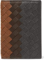 Bottega Veneta Dégradé Intrecciato Leather Bifold Cardholder - Navy