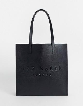 Ted Baker soocon crosshatch large icon bag in black