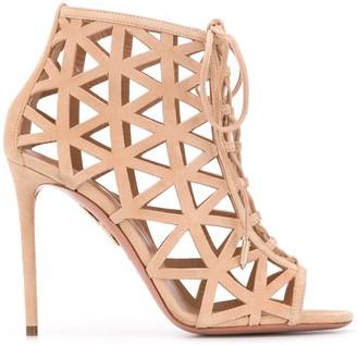 Aquazzura Graphiste 105mm suede sandals