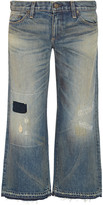 Simon Miller Cheviot distressed mid-rise wide-leg jeans