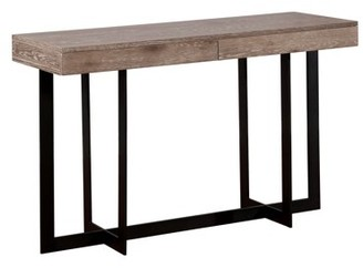 Furniture Of America Furniture of America Tanmer Two-Tone Intersecting Base Sofa Table