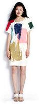 modern Women's Crepe T-shirt Dress-Light Watermelon Sorbet