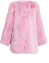 Gucci Collarless fur coat