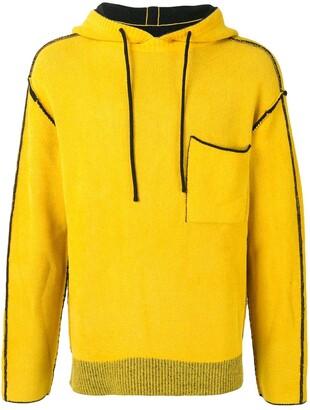 SONGZIO Signature reversible knitted hoodie