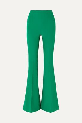 Safiyaa Halluana Stretch-crepe Flared Pants - Emerald