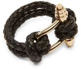 Givenchy Obsedia Braided Leather Bracelet