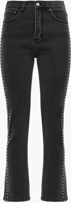 Victoria Victoria Beckham Studded High-rise Straight-leg Pants