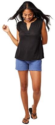 Carve Designs Nicole Top (Moss Stripe) Women's T Shirt
