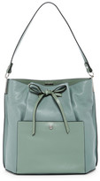 Louise et Cie Lucie Bow Leather Bucket Bag