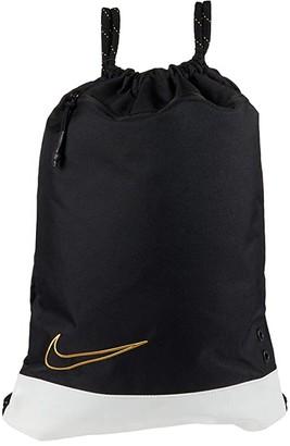 Nike Hoops Elite Gym Sack (Black/White/Metallic Gold) Backpack Bags