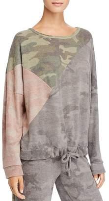 Vintage Havana Color-Block Camo Sweatshirt