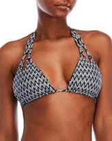 Red Carter Reversible Mosaic Bikini Top