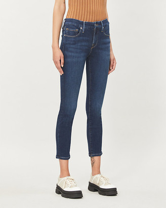 Good American Good Petite Skinny cropped mid-rise jeans
