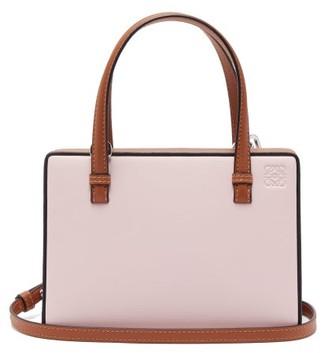 Loewe Postal Small Leather Bag - Womens - Pink Multi