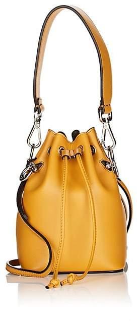 Fendi Women's Mon Tresor Mini Leather Bucket Bag - Zucca