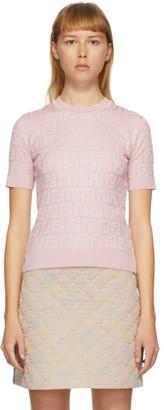 Fendi Pink Forever Short Sleeve Sweater