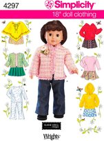 Simplicity Sewing Pattern 4297 Doll Clothes, One