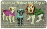 """Bacova 17.5-Inch x 29-Inch """"Home is Where the Dog is"""" Kitchen Mat in Tan"""