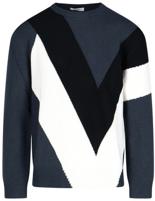 Valentino Colour Block Knitted Jumper