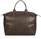 Bottega Veneta Intrecciato-panelled leather weekend bag