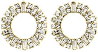 J.Crew Pavi Circle Stud Earrings (Crystal) Earring