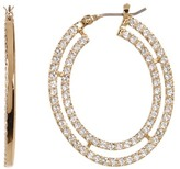 Jenny Packham Crystal Pave Layered Hoop Earrings
