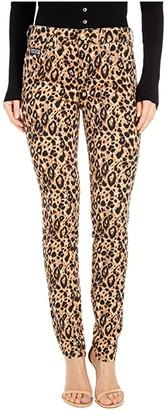Versace Skinny Fit Leopard Jeans in Lark (Lark) Women's Jeans