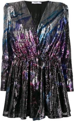 Amen sequin embroidery short dress
