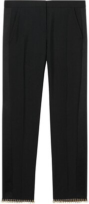 Burberry Ring-pierced Wool Tailored Trousers